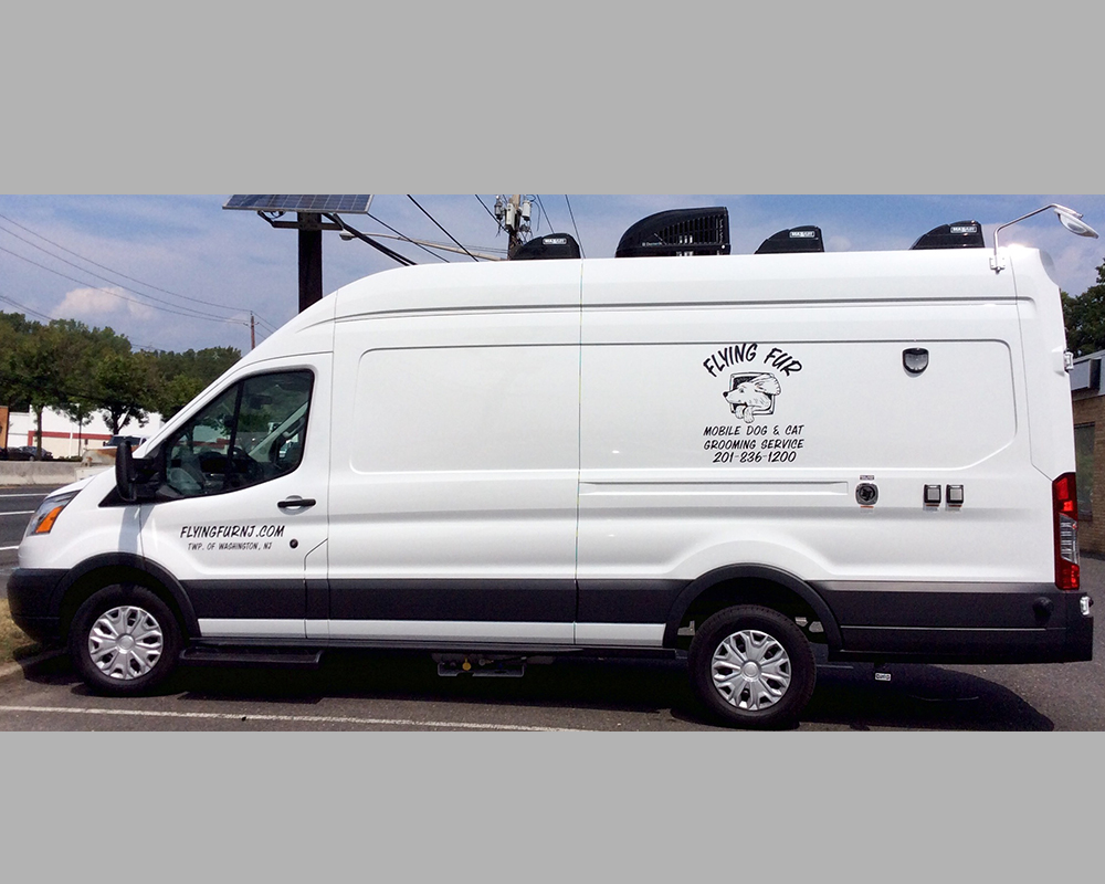 Exterior of Flying Fur Van